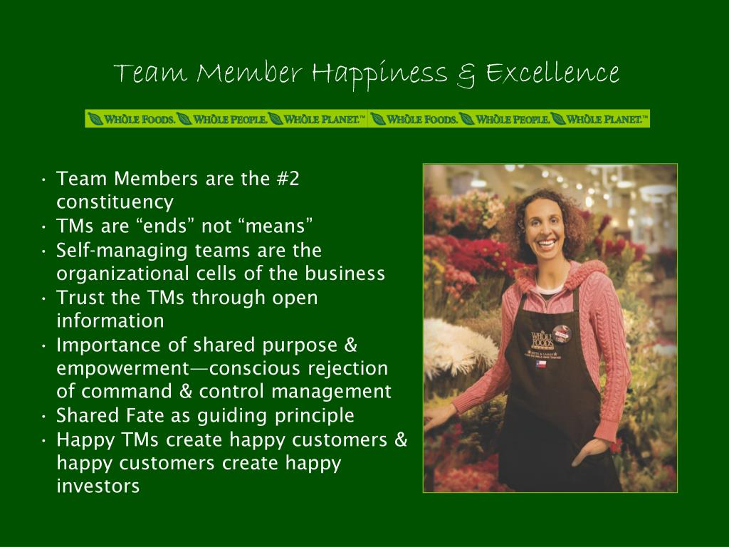 Team Member Happiness & Excellence