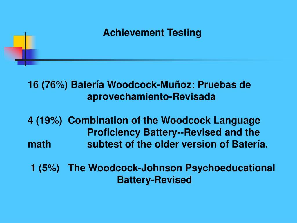 Achievement Testing