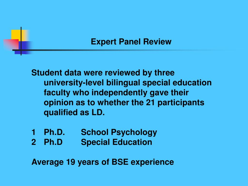 Expert Panel Review