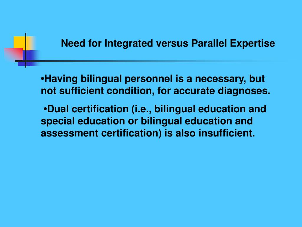 Need for Integrated versus Parallel Expertise