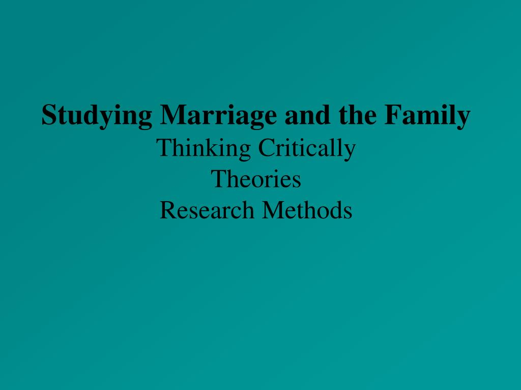 the importance of studying marriage and the family Become a family and marriage therapy counselor  health counseling with an  emphasis in marriage and family therapy degree program, you will study  family  and couple relationships the role, value and benefits of family systems therapy.