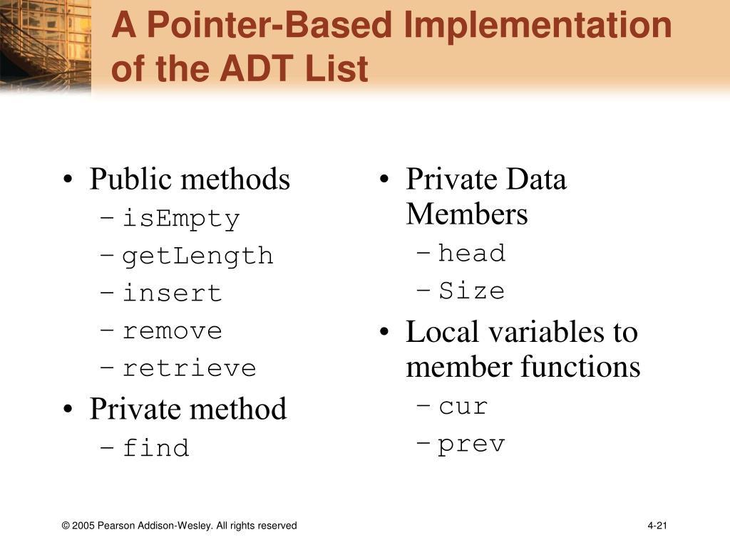 Public methods