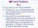 np hard problems a ntm8