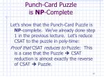punch card puzzle is np complete