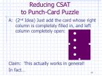 reducing csat to punch card puzzle20