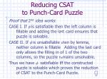 reducing csat to punch card puzzle22