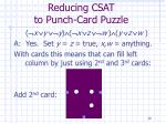 reducing csat to punch card puzzle30