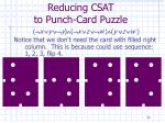 reducing csat to punch card puzzle32