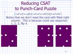 reducing csat to punch card puzzle33
