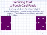 reducing csat to punch card puzzle34