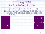 reducing csat to punch card puzzle35