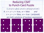 reducing csat to punch card puzzle37