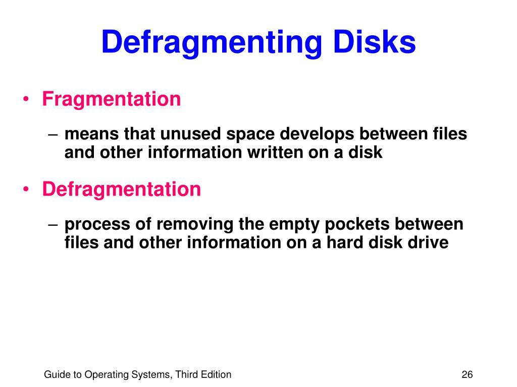 Defragmenting Disks