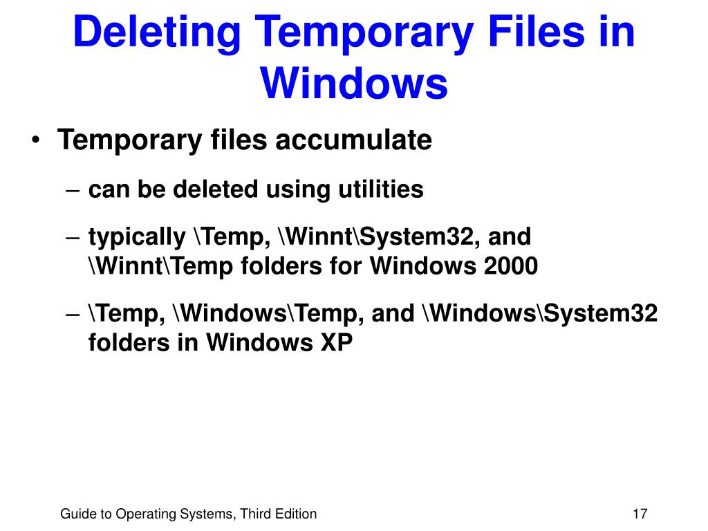 Deleting Temporary Files in Windows