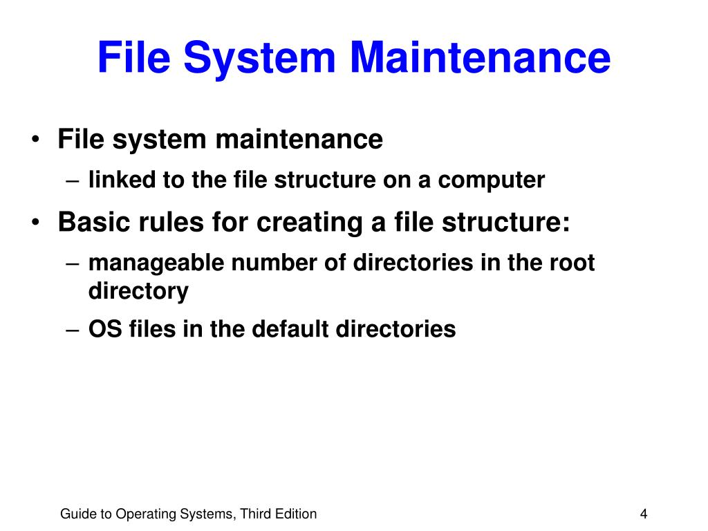 File System Maintenance