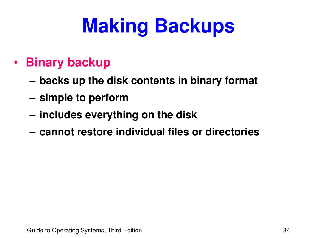 Making Backups