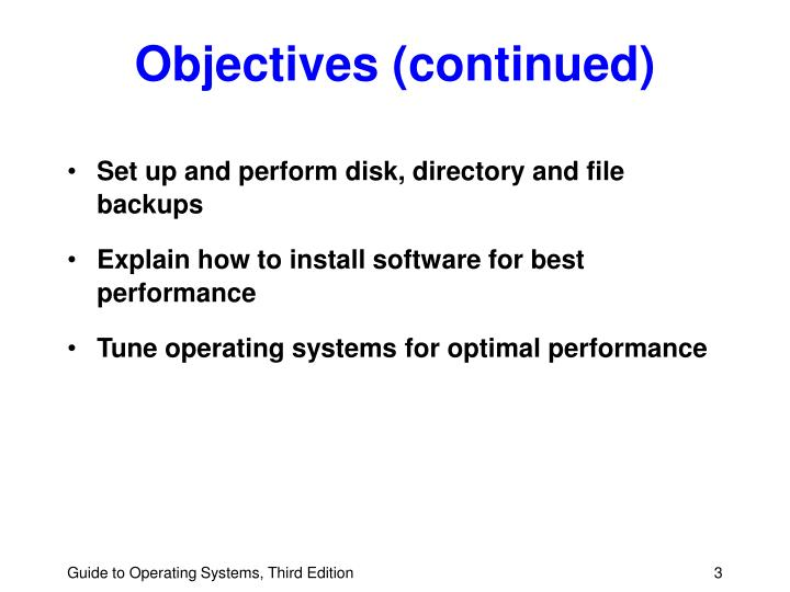 Objectives continued l.jpg