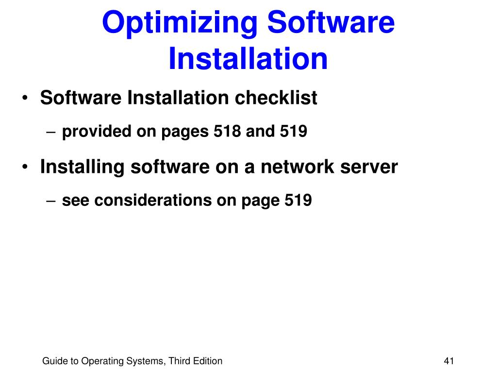Optimizing Software Installation