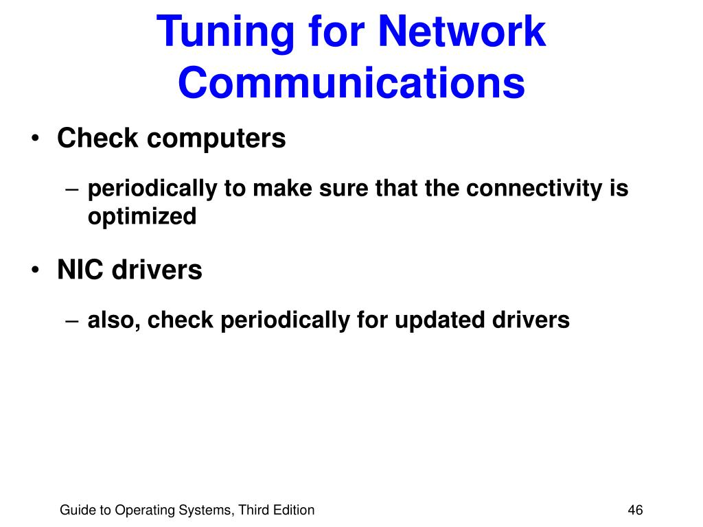Tuning for Network Communications
