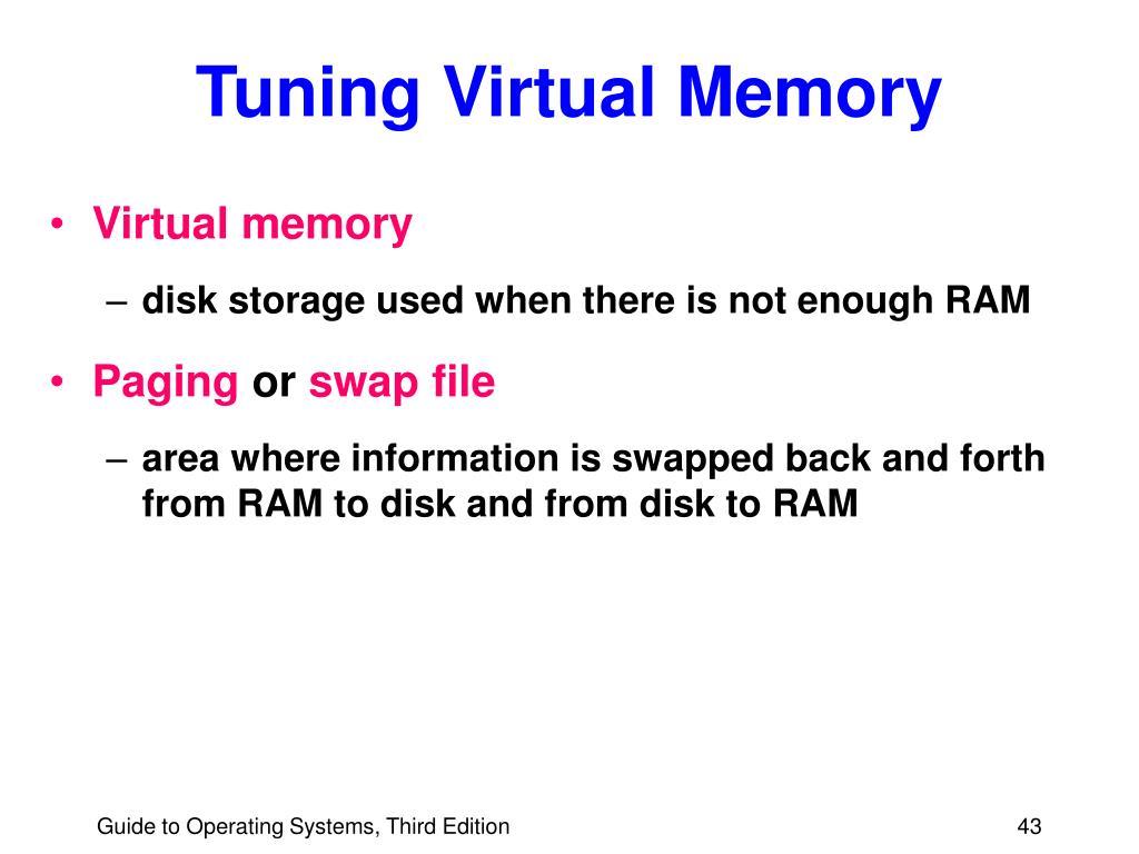 Tuning Virtual Memory