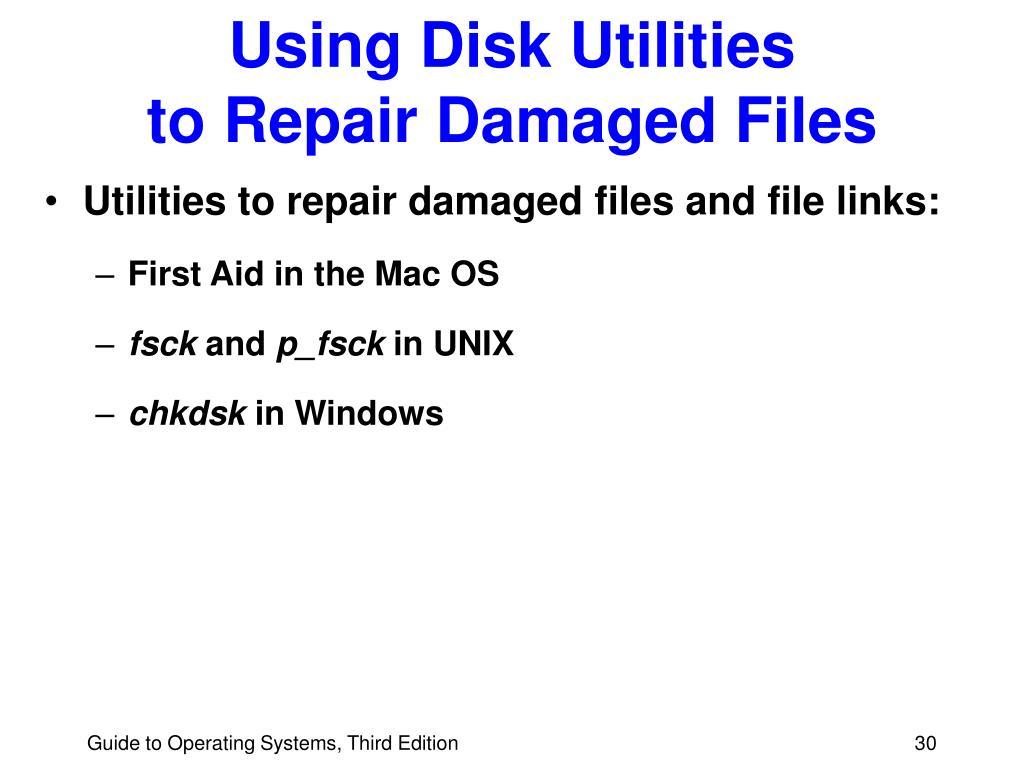 Using Disk Utilities