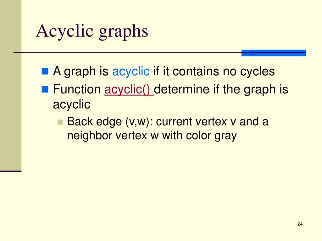 Acyclic graphs