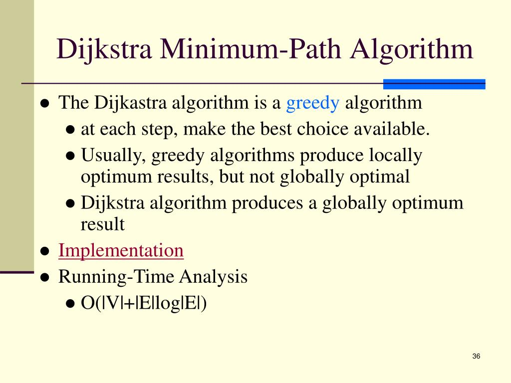 Dijkstra Minimum-Path Algorithm