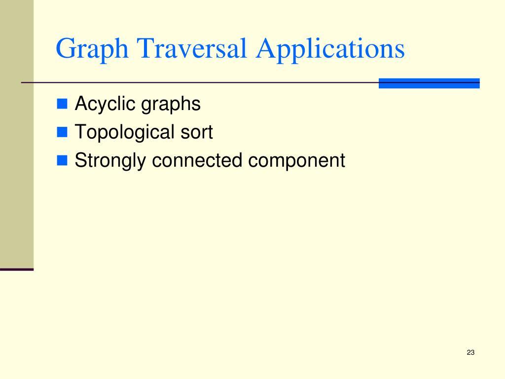Graph Traversal Applications