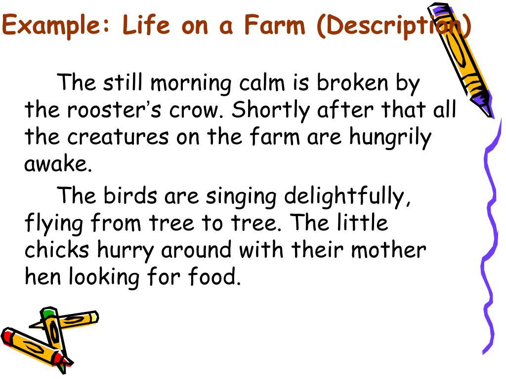 Example: Life on a Farm (Description)