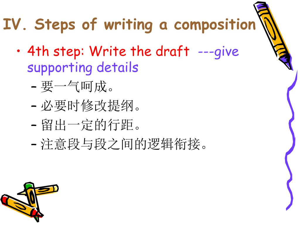 IV. Steps of writing a composition