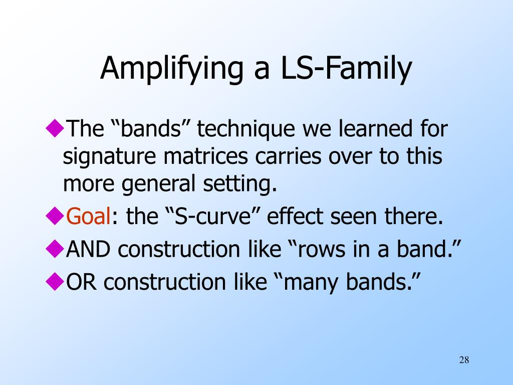 Amplifying a LS-Family