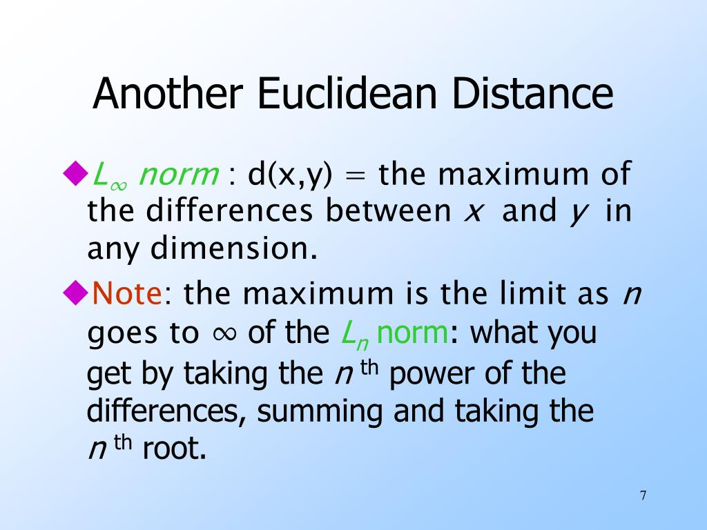 Another Euclidean Distance