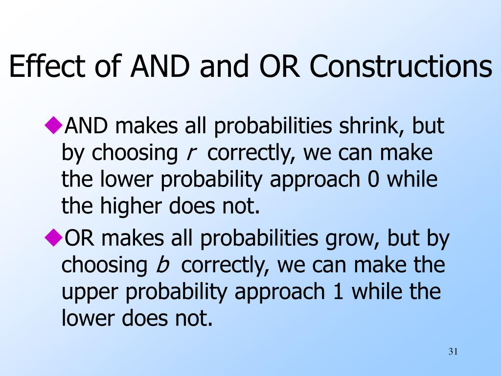 Effect of AND and OR Constructions