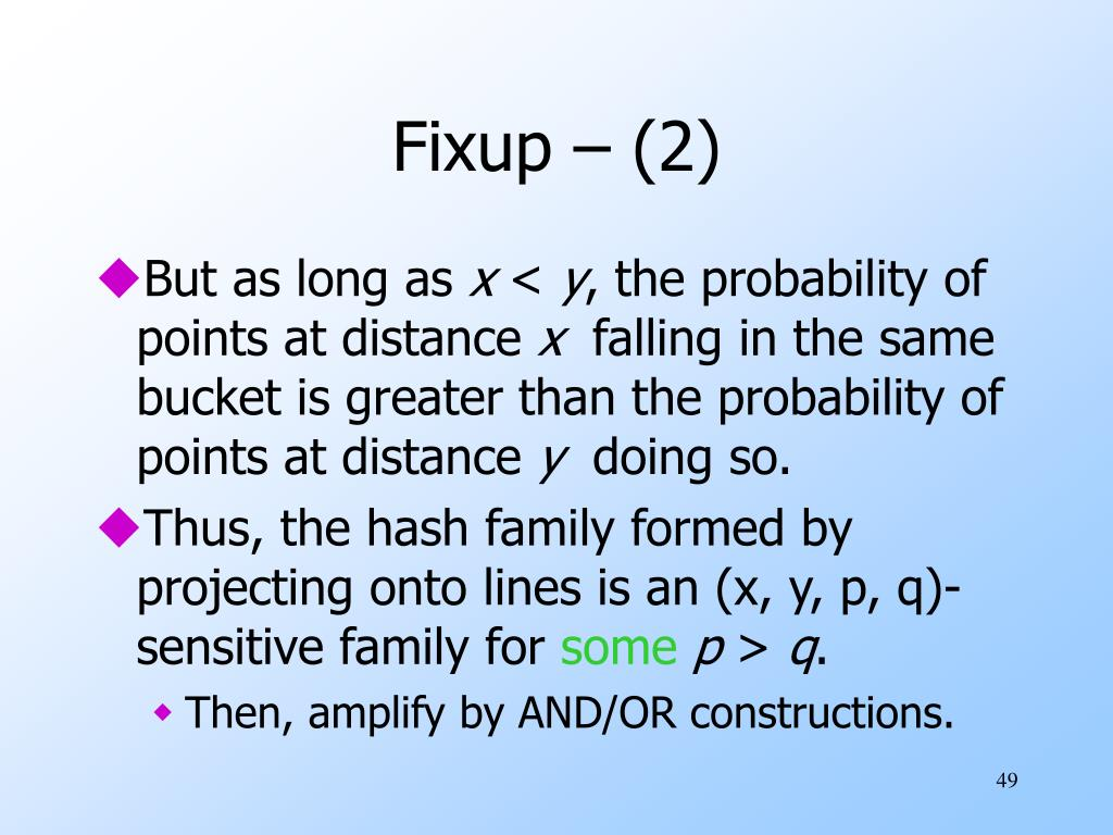 Fixup – (2)