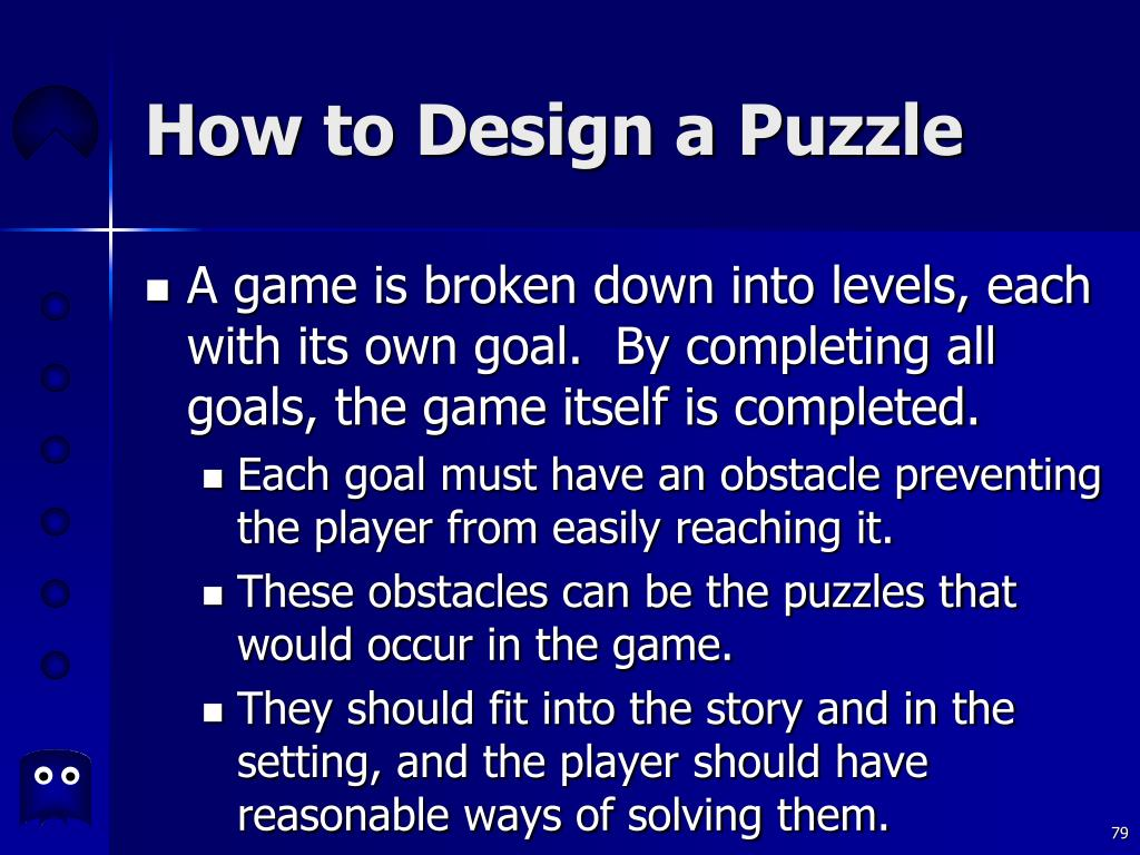 How to Design a Puzzle