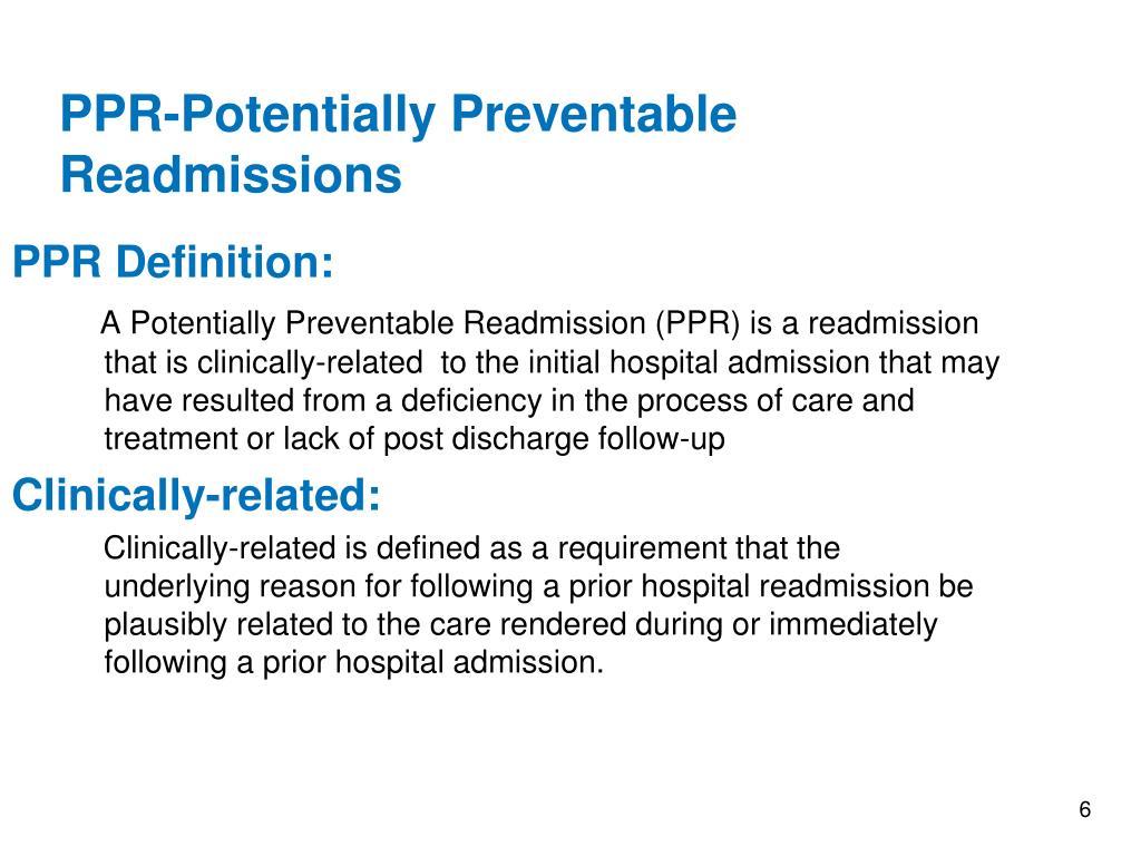 PPR Definition: