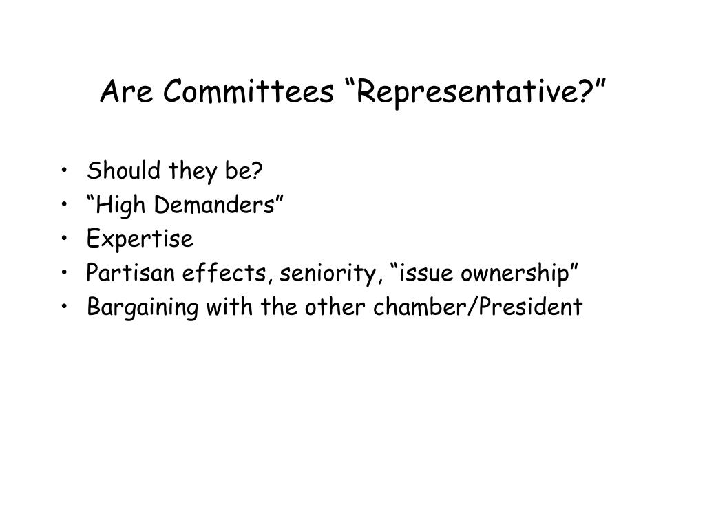 "Are Committees ""Representative?"""