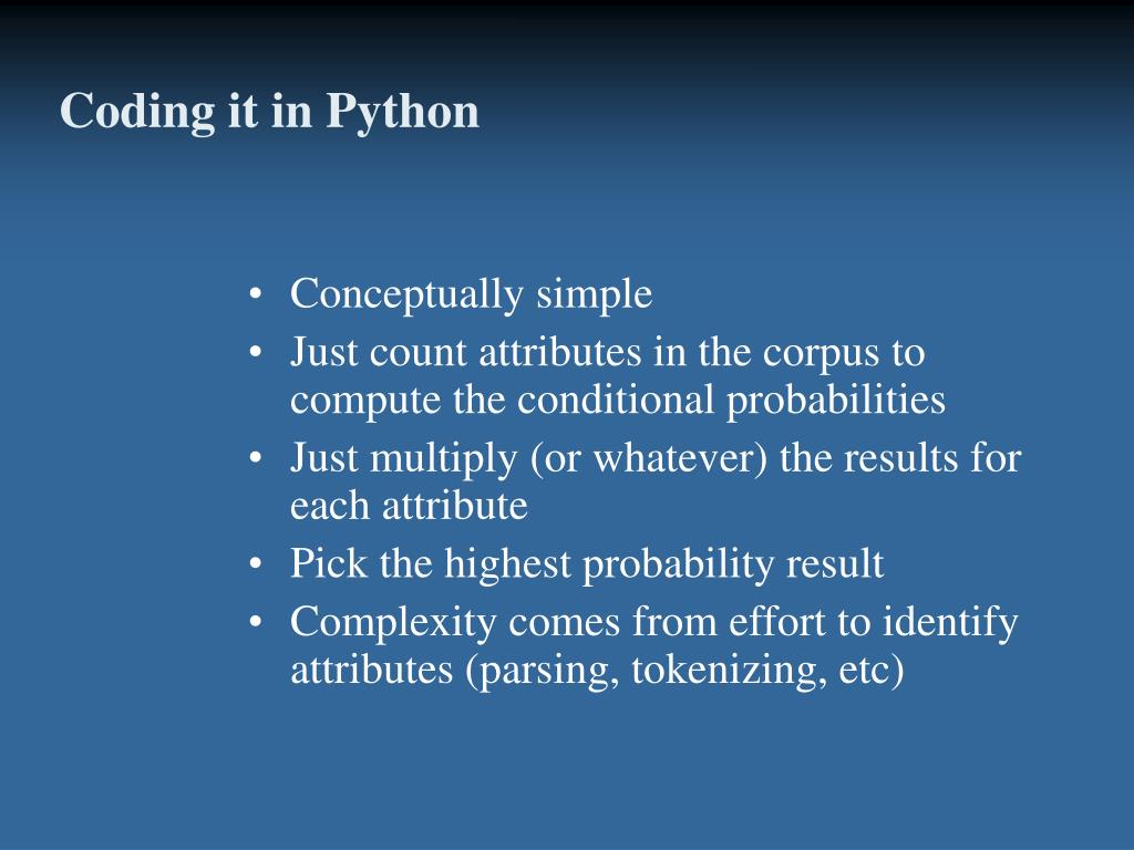 Coding it in Python
