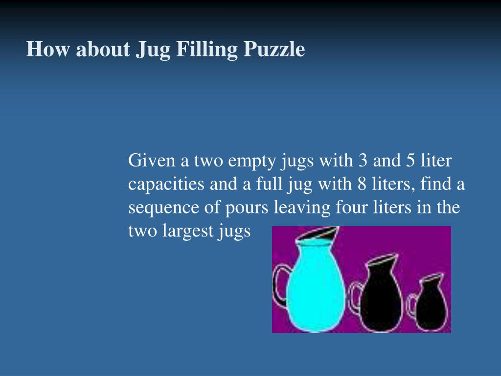 How about Jug Filling Puzzle