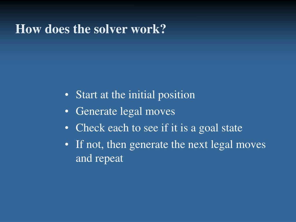 How does the solver work?
