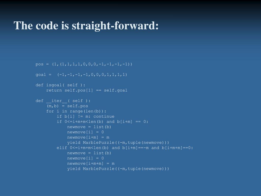 The code is straight-forward: