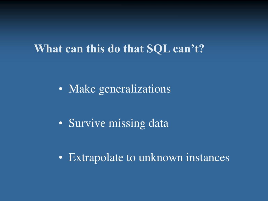 What can this do that SQL can't?