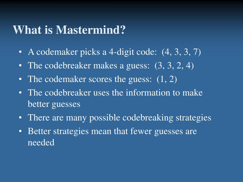What is Mastermind?