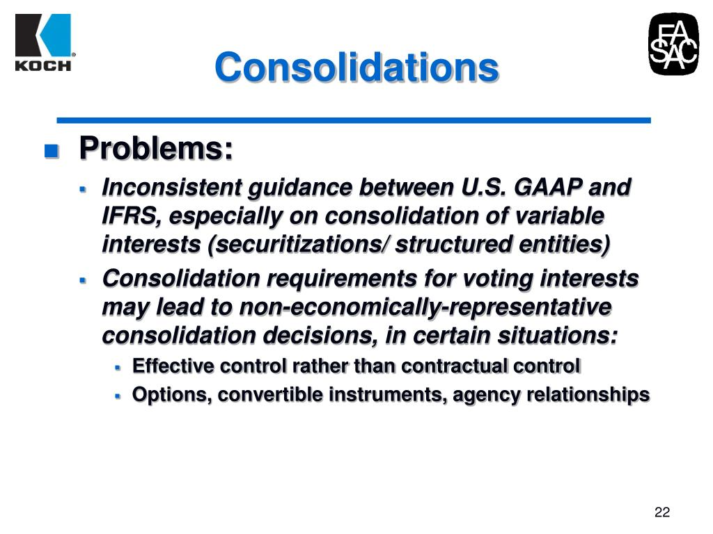 Consolidations