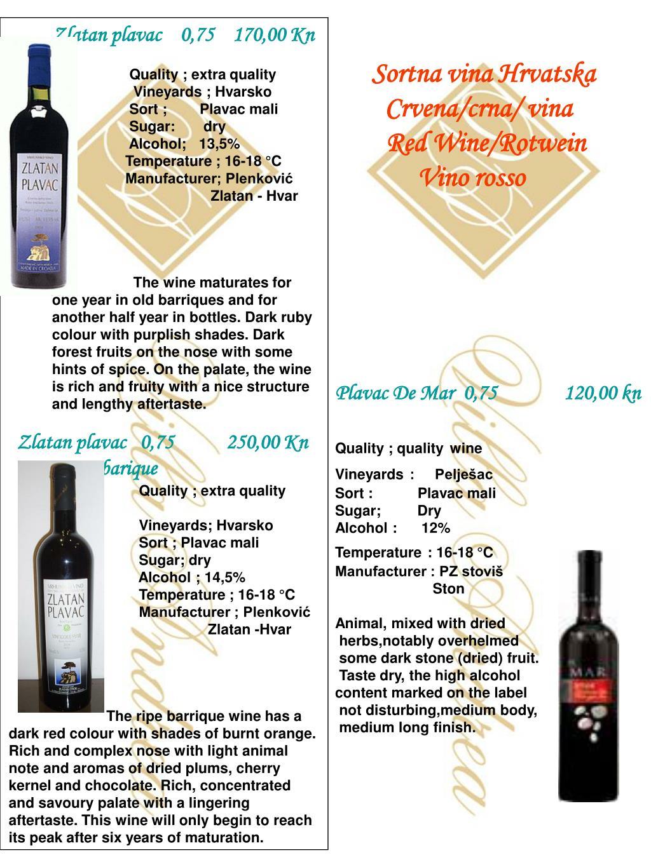 Sortna vina Hrvatska