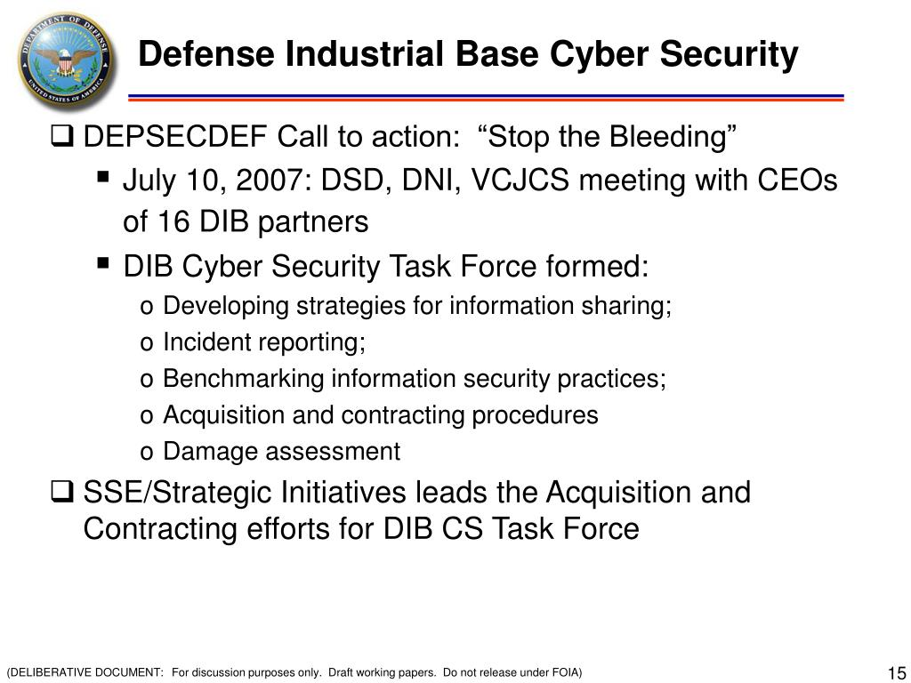 Defense Industrial Base Cyber Security