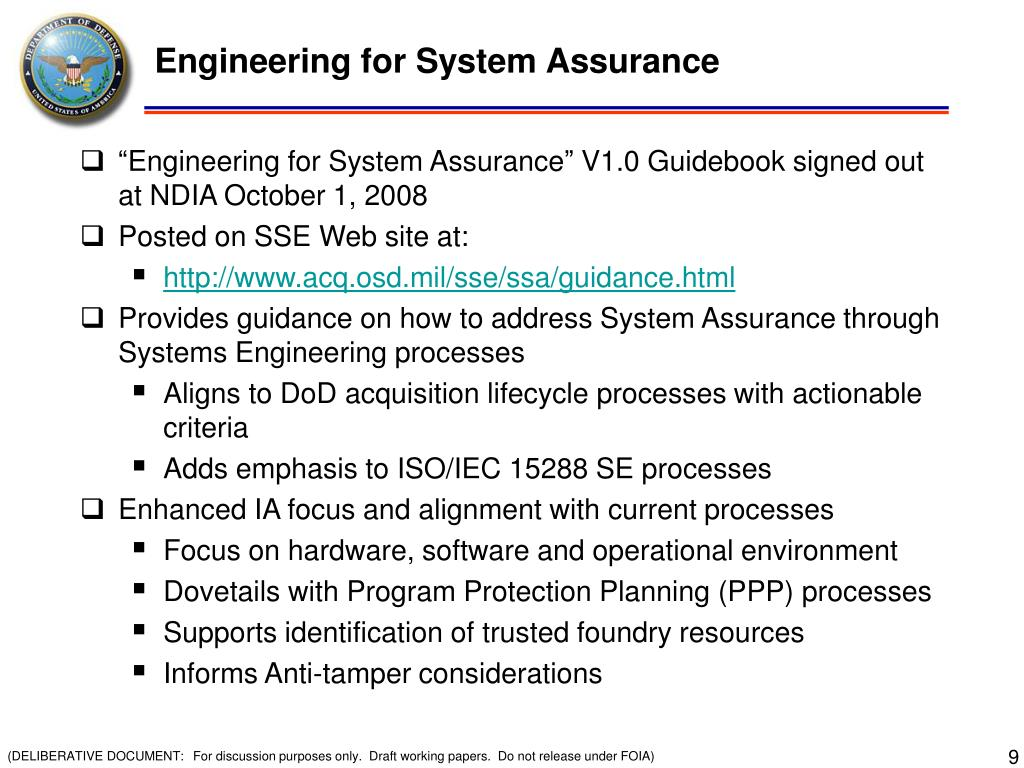 Engineering for System Assurance
