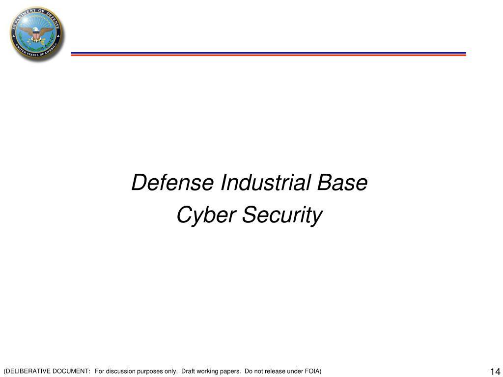 Defense Industrial Base