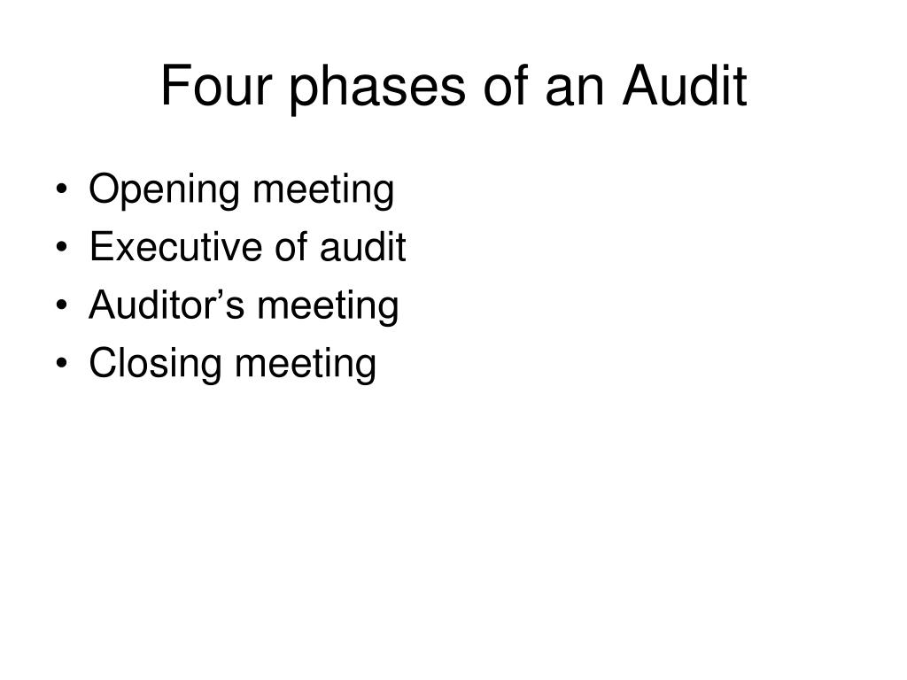 Four phases of an Audit