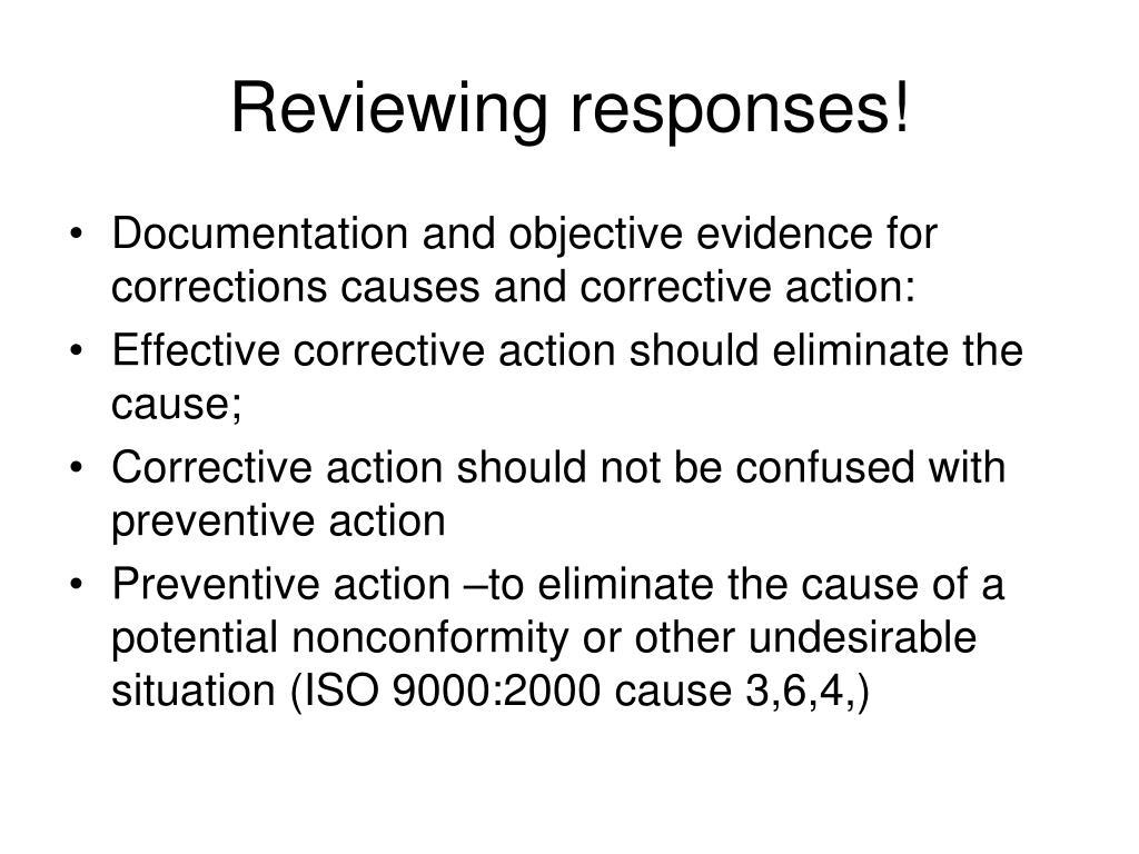 Reviewing responses!